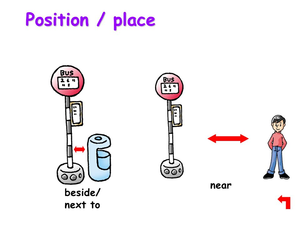 Prepositions At In On On Under In Above Over Under - Next to preposition