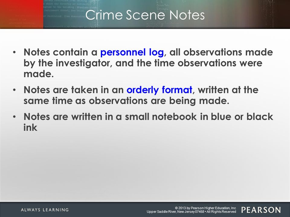 criminal investigation notes A complete set of 'the criminal investigation process' syllabus notes under syllabus headings.