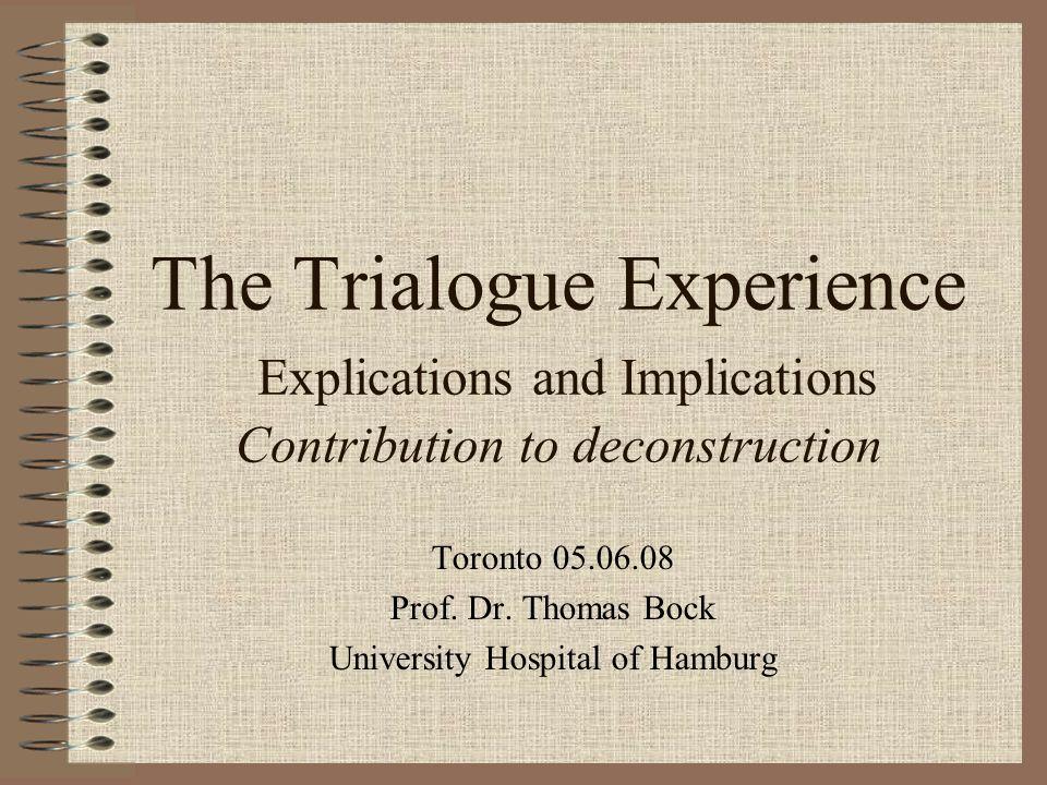 Toronto 05.06.08 Prof. Dr. Thomas Bock University Hospital of Hamburg
