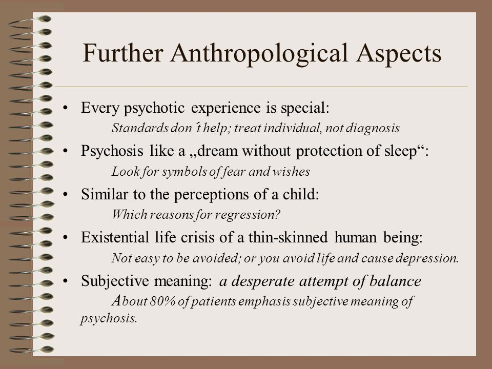 Further Anthropological Aspects