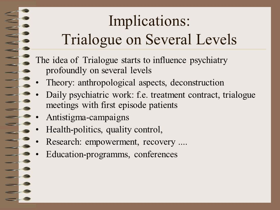 Implications: Trialogue on Several Levels