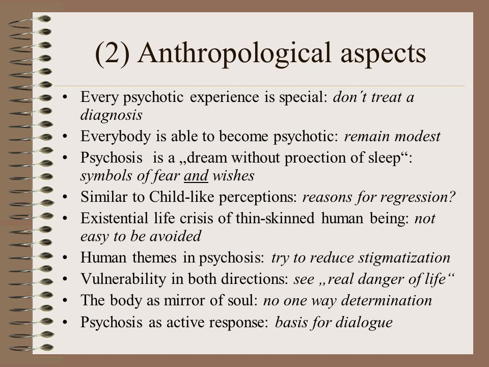 (2) Anthropological aspects