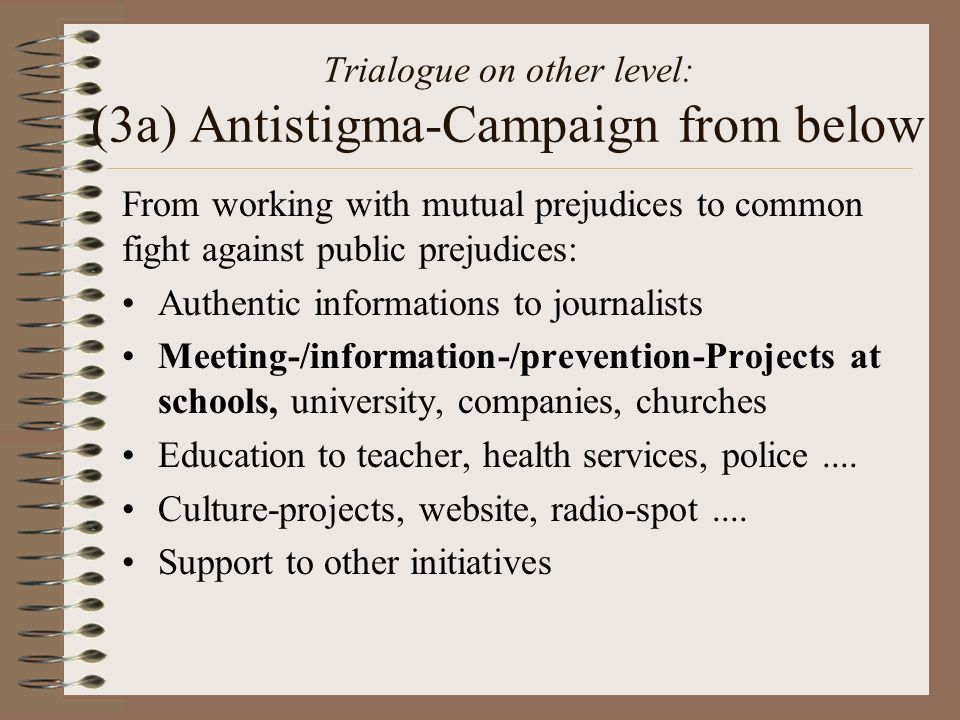 Trialogue on other level: (3a) Antistigma-Campaign from below