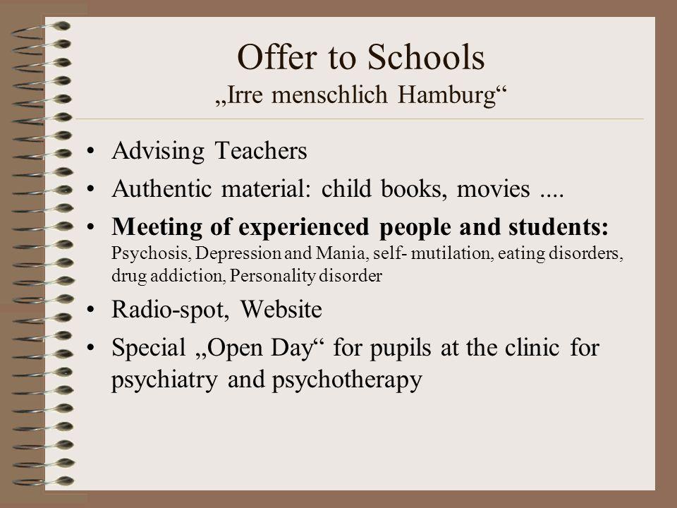 """Offer to Schools """"Irre menschlich Hamburg"""