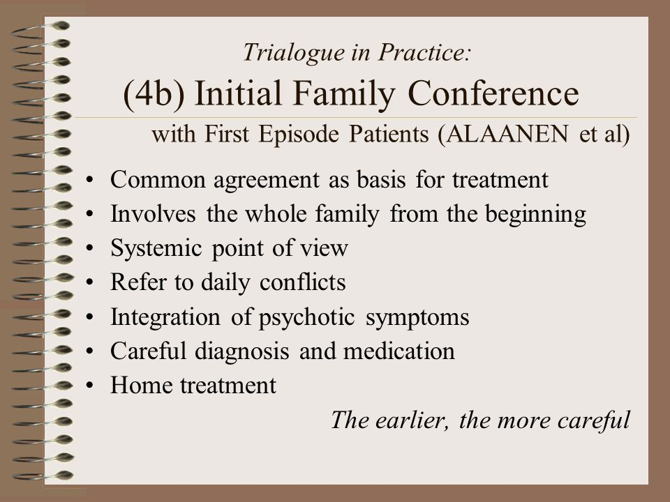 Trialogue in Practice: (4b) Initial Family Conference