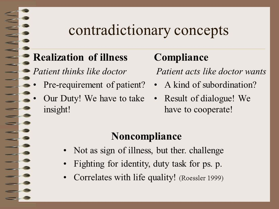 contradictionary concepts
