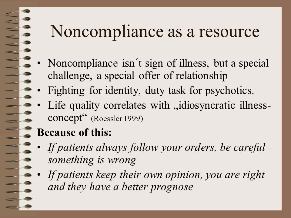 Noncompliance as a resource