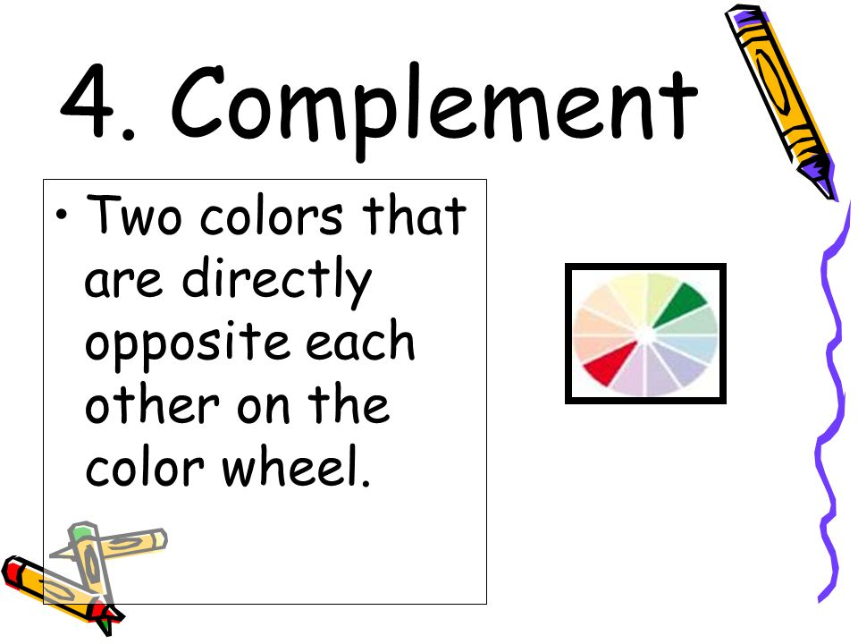 Colors Directly Opposite Color Wheel the color wheel. - ppt video online download