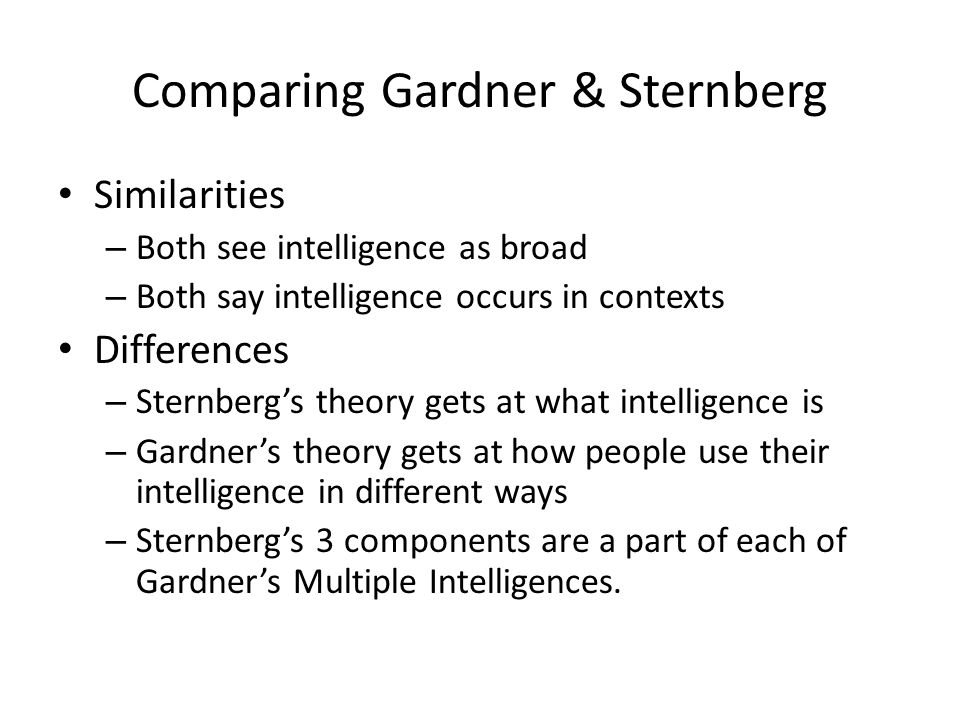 an analysis of gardner's theory of Read this essay on gardners theory come browse our large digital warehouse of free sample essays get the knowledge you need in order to pass your classes and more.