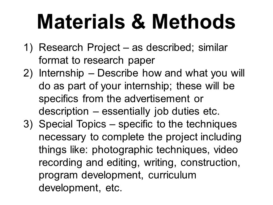 methods for research paper