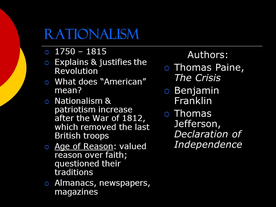 Puritans and rationalists essay