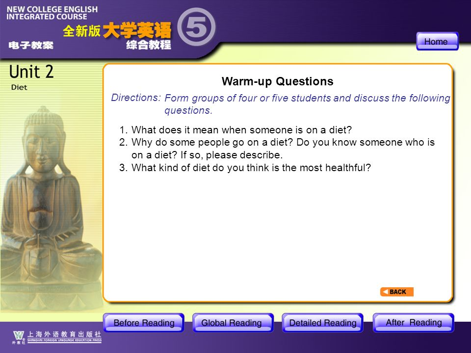 BR1- Warm-up Questions Warm-up Questions Directions: