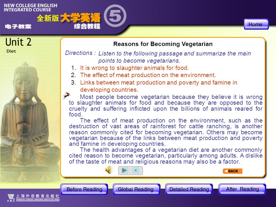 BR1- Reasons for Becoming Vegetarian