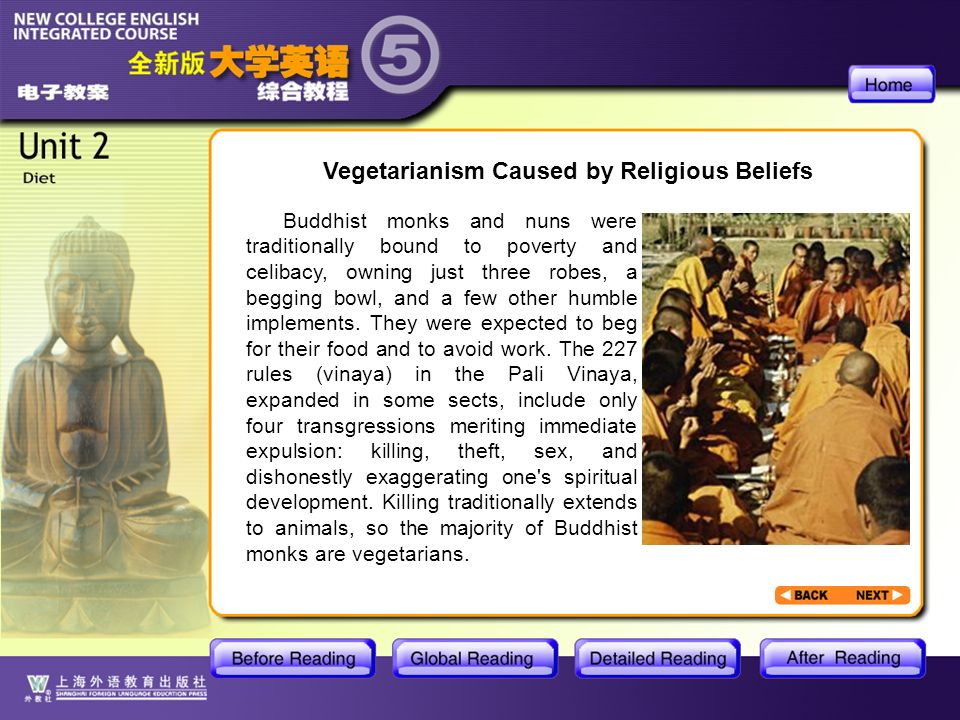 BR2- Vegetarianism Caused by Religious Beliefs