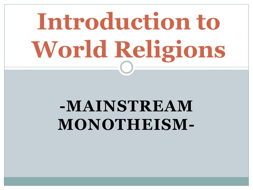 mainstream religions v alternative paths It has become quite popular in recent years to distinguish between spirituality and religion it's of the spiritual path: there is not one religion.