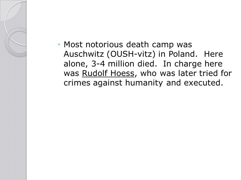 """rudolf hoess crimes against humanity essay Jewish crimes against humantiy and tortured to """"confess"""" to """"crimes against humanity"""" and the cabalistic number of six rudolf hess was a german."""