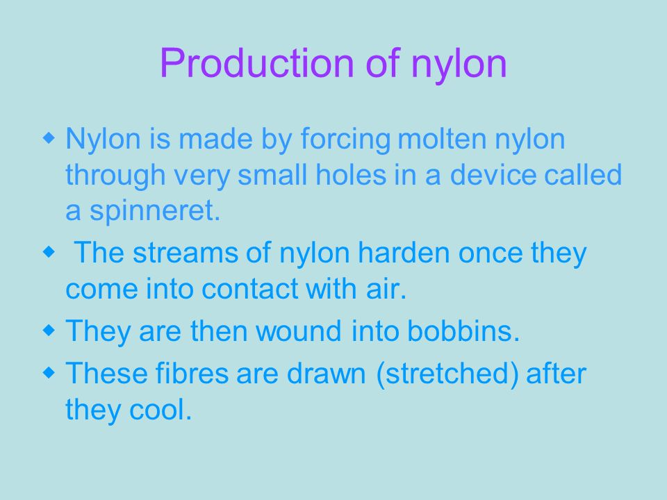 Molten Nylon Through Very