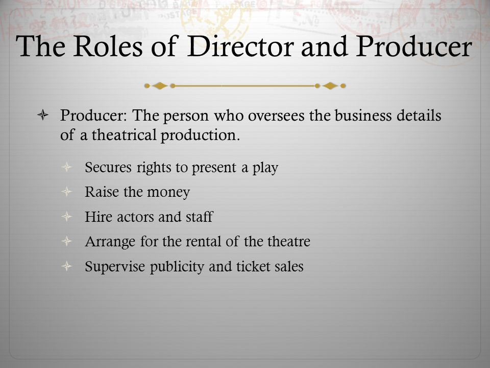 DIRECTING AND PRODUCING - ppt video online download