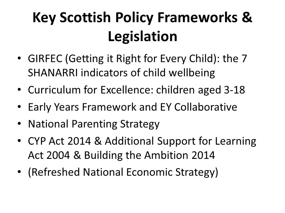 getting it right for every child girfec policy Introduction and background getting it right for every child (girfec), first launched in 2006, is a policy and program, for all children scotland it is a holistic, child.
