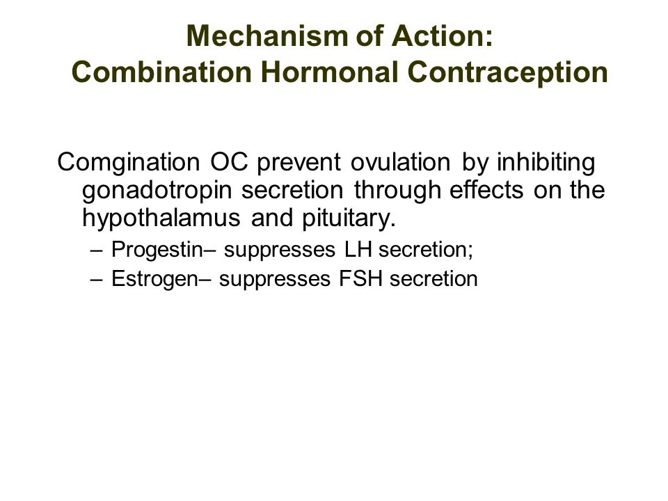oral contraceptive mechanism of action pdf