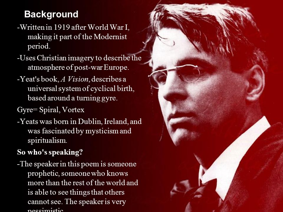 second coming william butler yeats essay