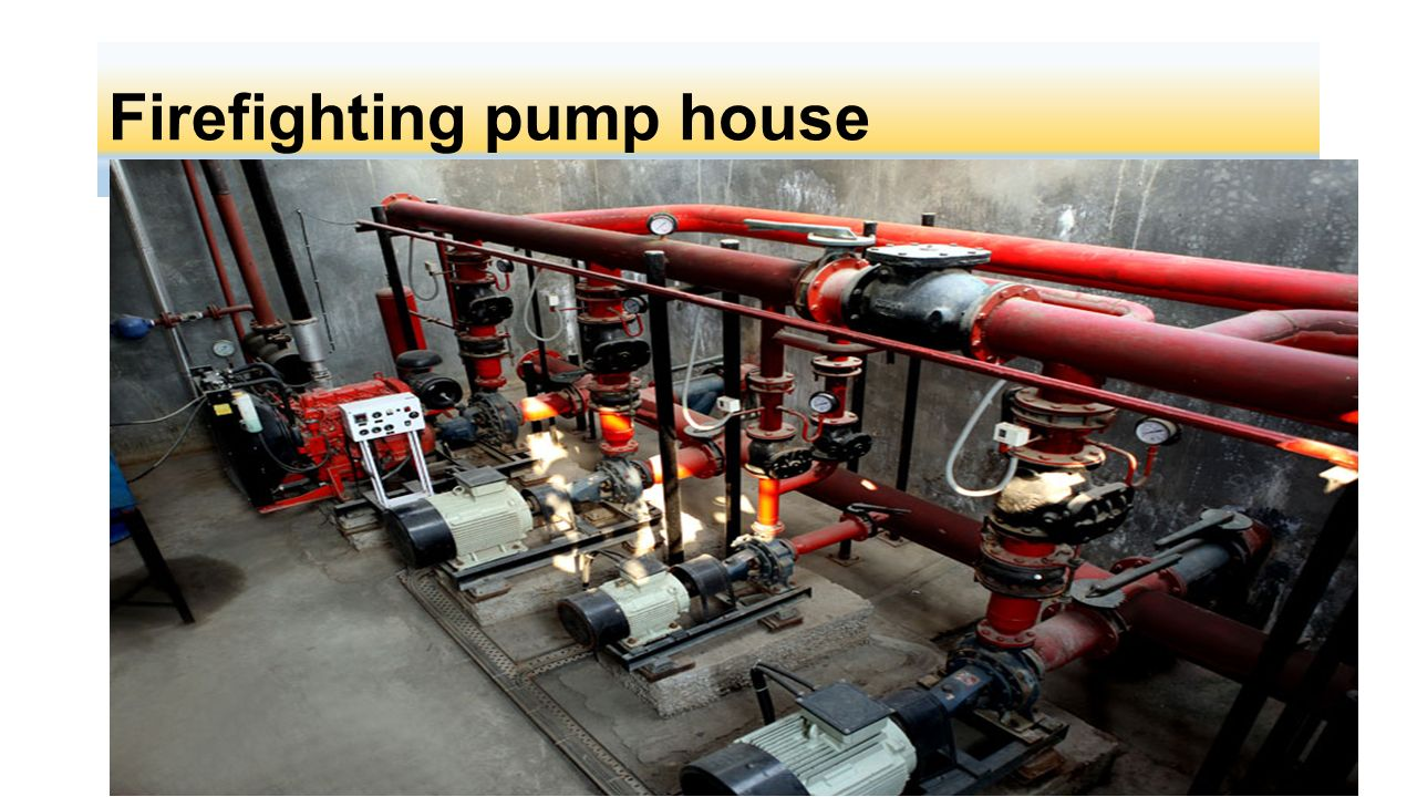Firefighting pump house