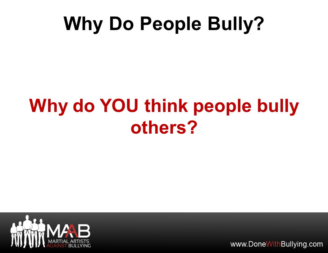 why do you think many people
