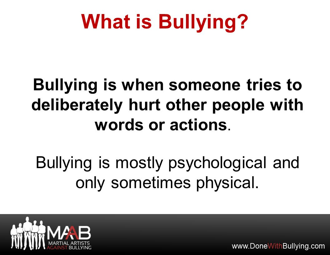 the emotional and physical aspects of bullying Emotional abuse: definitions, signs, symptoms just because there is no physical mark doesn't mean the abuse isn (read about: emotional bullying) name.