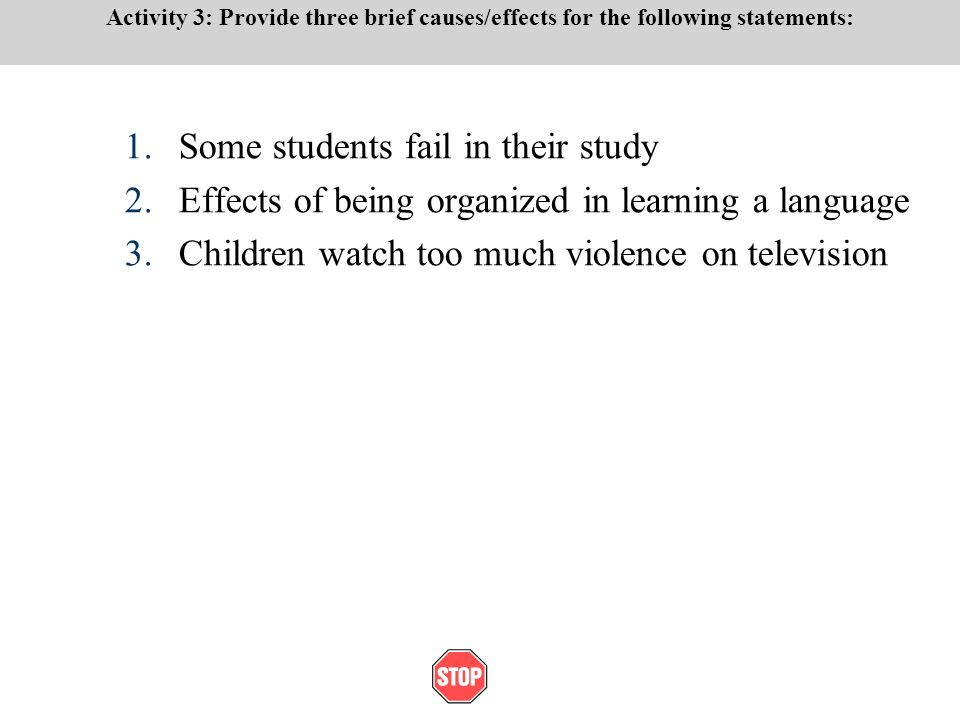 an analysis of the effects of violence in television and movies This meant that violence on television or in movies could stimulate or influence some children to participate in aggressive or violent behavior.