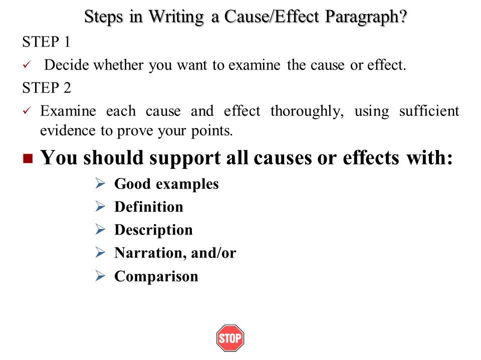 Essay about cause and effect