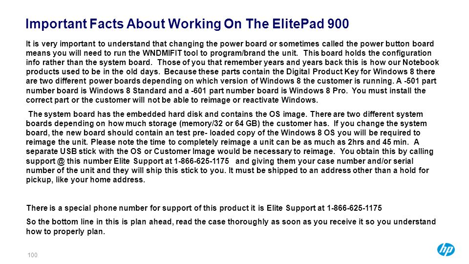 Important Facts About Working On The ElitePad 900