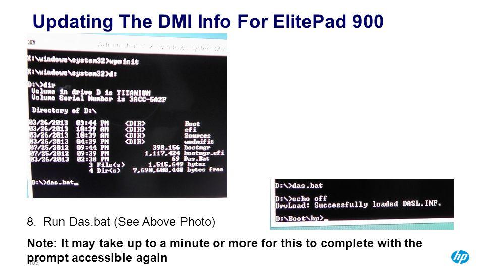 Updating The DMI Info For ElitePad 900