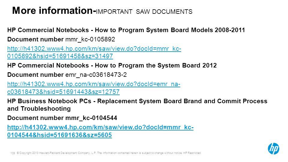 More information-IMPORTANT SAW DOCUMENTS