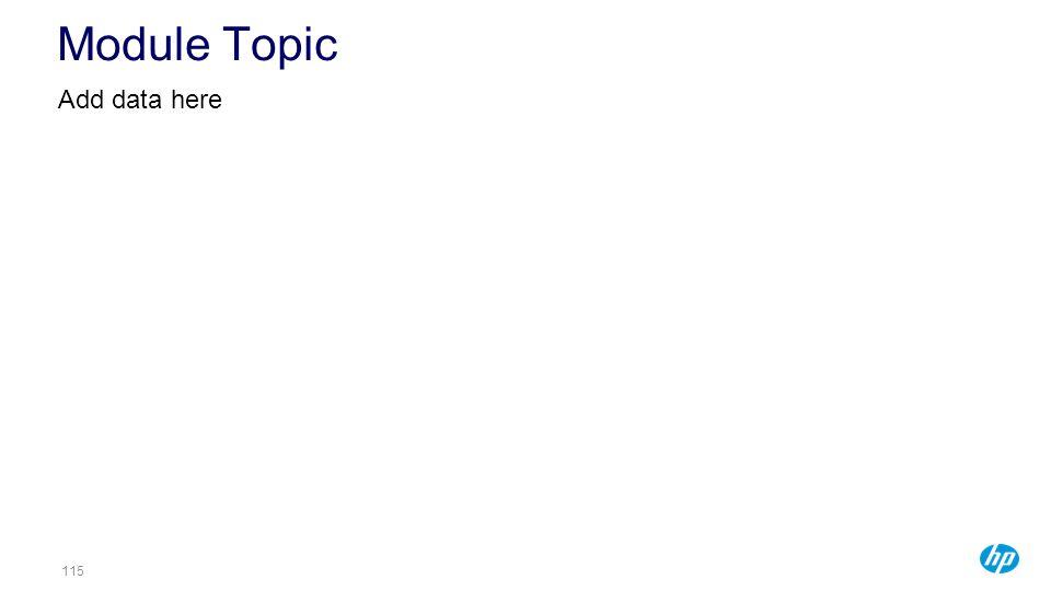 115115115 Module Topic Add data here