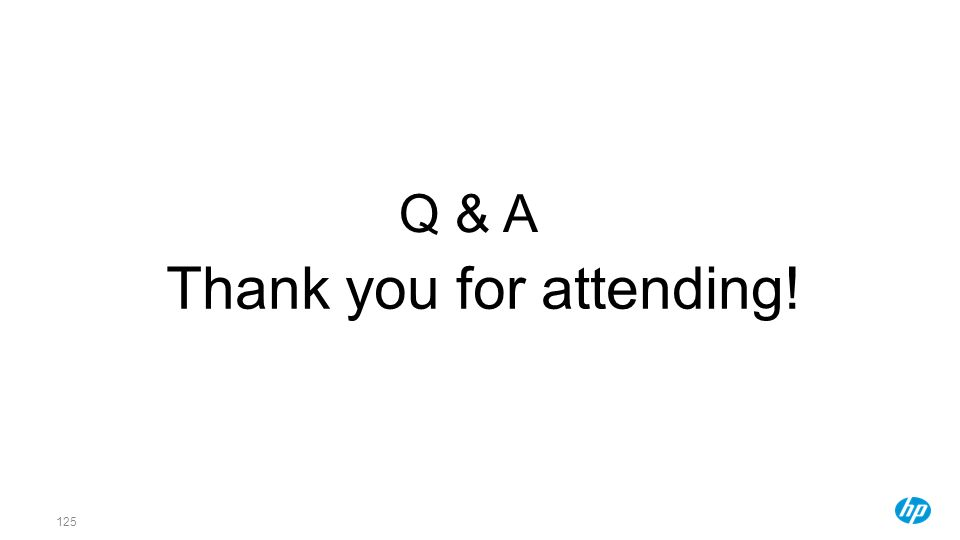 Thank you for attending!