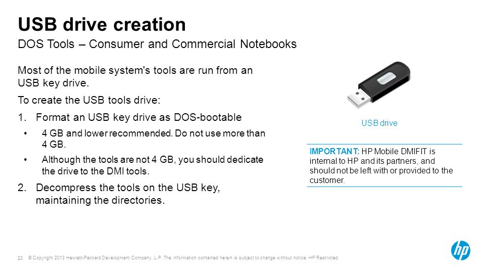 Course or module title DOS Tools – Consumer and Commercial Notebooks
