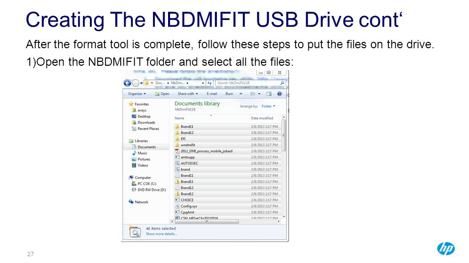 Creating The NBDMIFIT USB Drive cont'