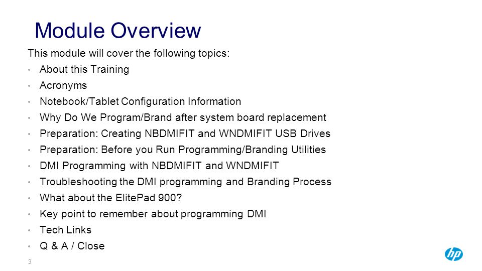 Module Overview This module will cover the following topics:
