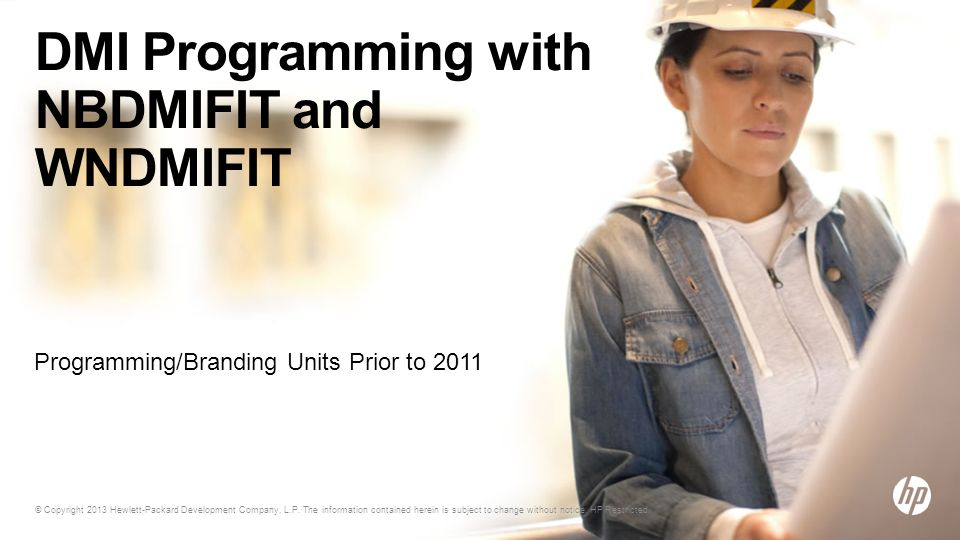 DMI Programming with NBDMIFIT and WNDMIFIT