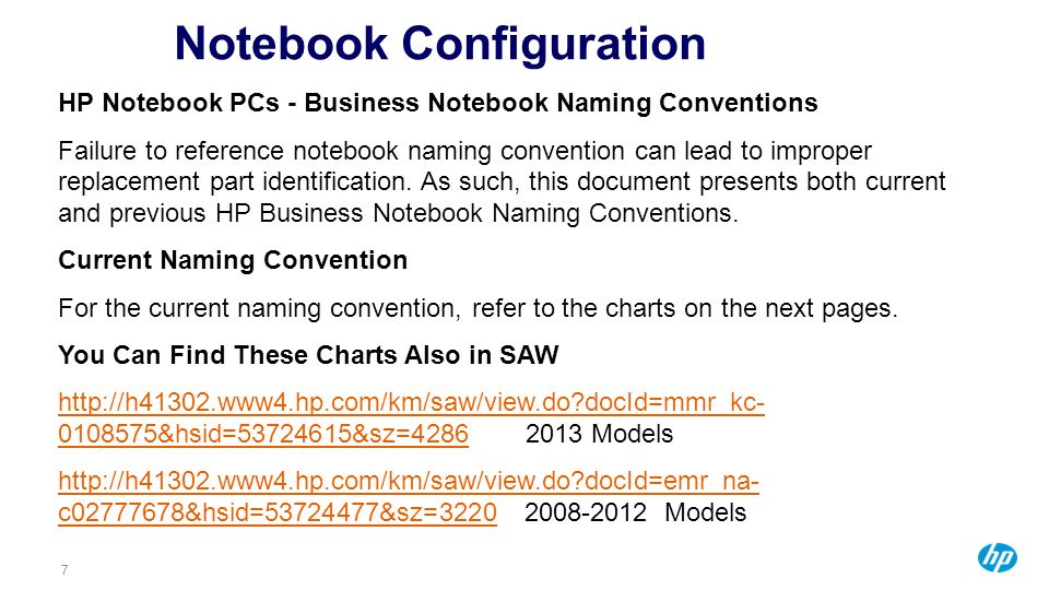 Notebook Configuration