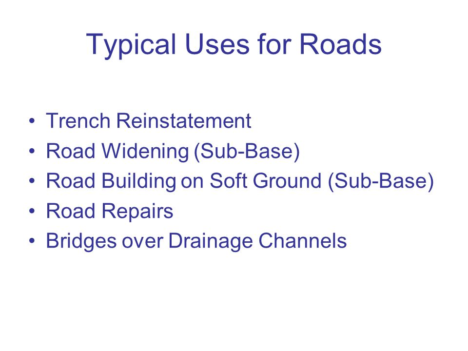 Lightweight foamed concrete for roads and geotechnical typical uses for roads trench reinstatement road widening sub base sciox Choice Image