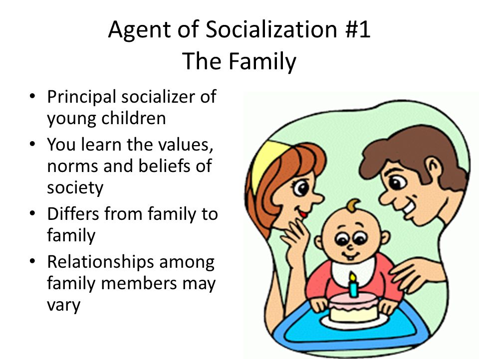 agents in socialization Individuals and groups that influence our orientations to life--our self-concept, emotions, attitudes, and behaviors--are called agents of socialization.