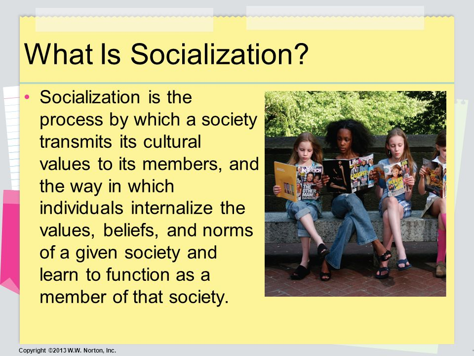 a description of a socialization as the procedure by which a person learns the beliefs and norms wit Sociology notes cargado por this is unsocial with limitationscommon values and beliefs a social role is a set of social norms that govern a person's.