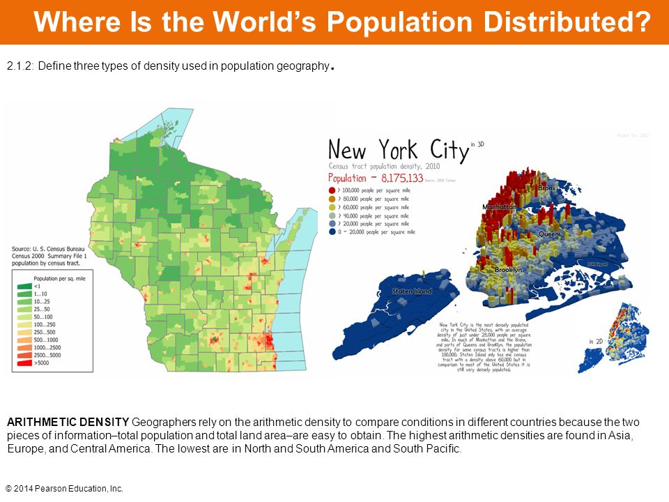 Learning Outcomes 2.1.1: Describe regions where population ...