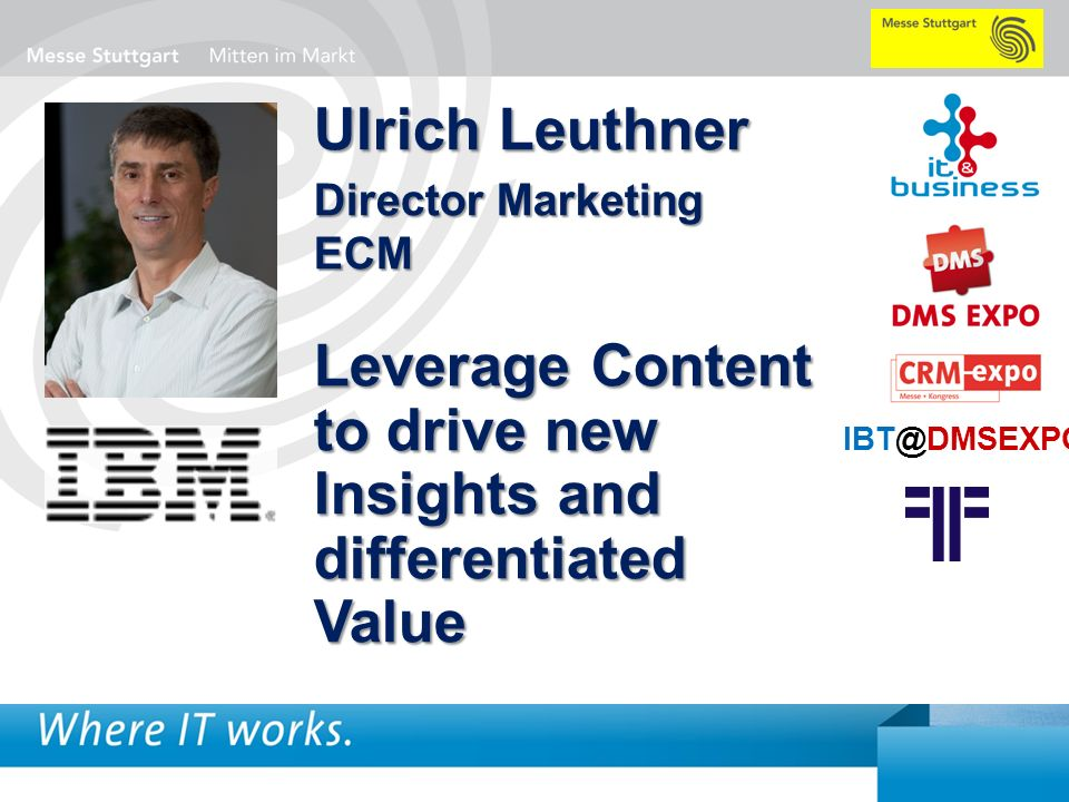 Leverage Content to drive new Insights and differentiated Value