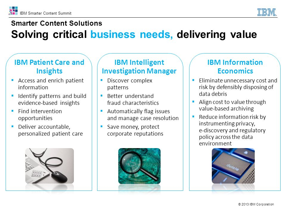 IBM Patient Care and Insights IBM Intelligent Investigation Manager