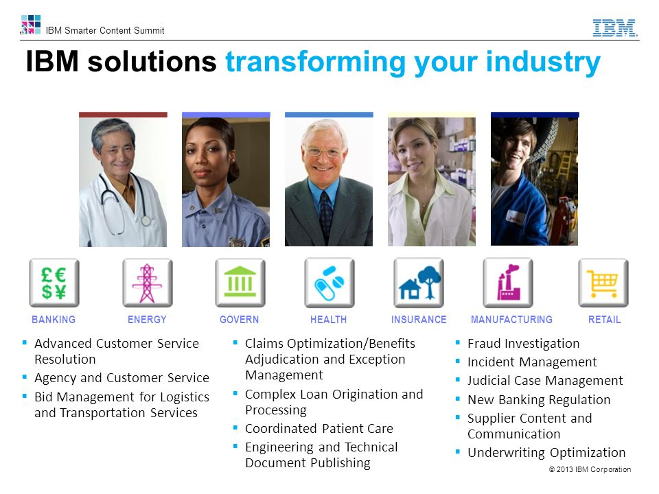 IBM solutions transforming your industry