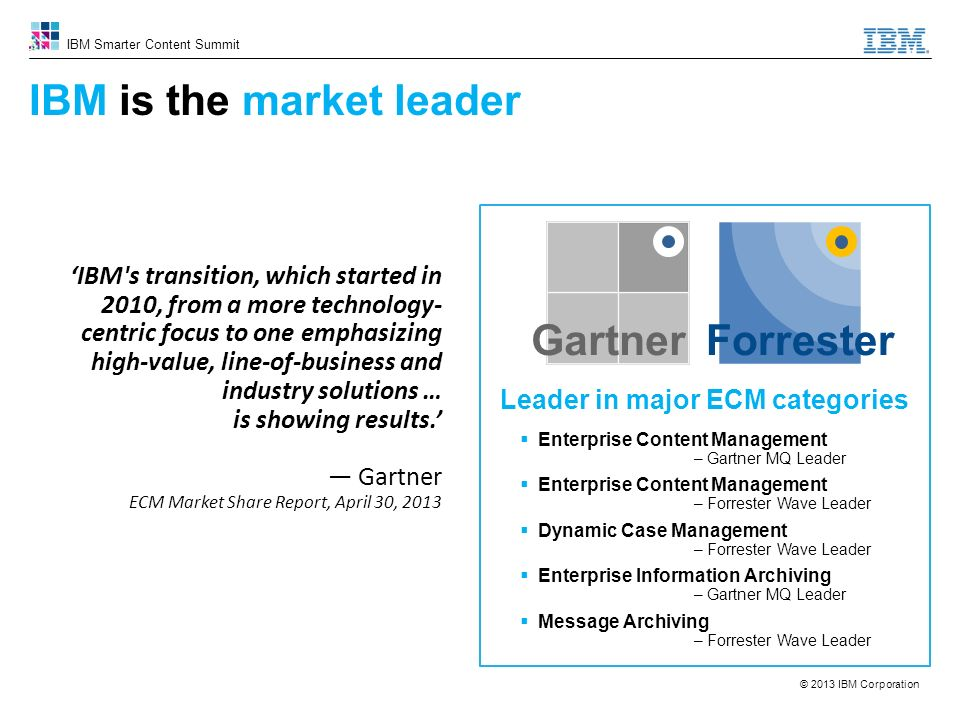 IBM is the market leader