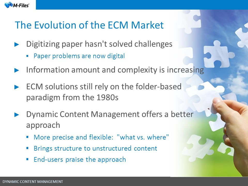 The Evolution of the ECM Market