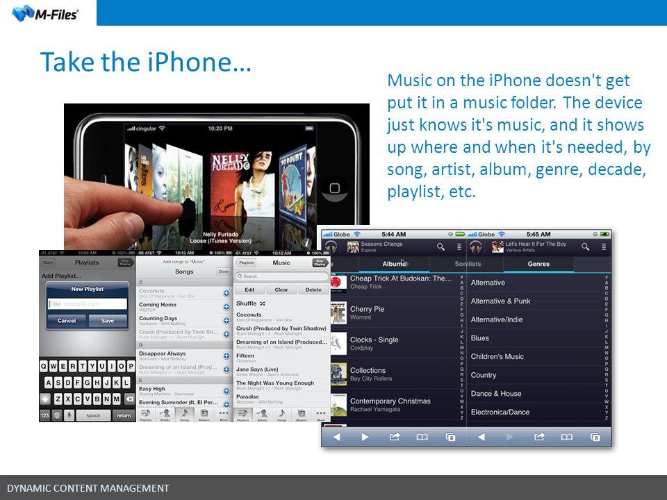 Take the iPhone…